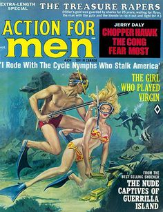 Action for Men vintage magazine cover Pulp Magazine, Book And Magazine, Magazine Art, Magazine Covers, Pulp Fiction Art, Pulp Art, Adventure Magazine, Magazine Illustration, Its A Mans World