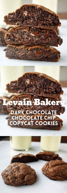 The ORIGINAL 5 star rated Levain Bakery Copycat Dark Chocolate Chocolate Chip Cookie. The most popular recipes on Modern Honey. The ORIGINAL 5 star rated Levain Bakery Copycat Dark Chocolate Chocolate Chip Cookie. The most popular recipes on Modern Honey. Cookie Desserts, Easy Desserts, Delicious Desserts, Dessert Recipes, Yummy Food, Chocolate Chocolate, Chocolate Chip Cookies, Dark Chocolate Recipes, Chocolate Muffins
