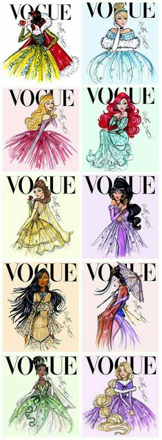 These utterly beautiful creations by Hayden Williams reimagined Disney Princesses gracing the cover of Vogue magazine. They all look so *fierce*! How cool is Ariel here? // More Disney Princesses Reimagined Here by Hayden Williams Disney Pixar, Walt Disney, Cute Disney, Disney Dream, Disney Girls, Disney And Dreamworks, Disney Style, Disney Magic, Disney Characters