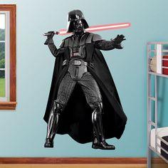 "Darth Vader 4'1""x6'5"" Star Wars Lifesize FATHEAD Wall Graphics REAL BIG"