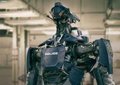 ArtStation - Police Bot, by Vitaly LesnykhMore robots here.