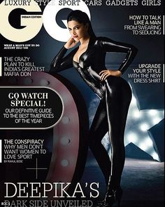 Deepika Padukone shows off her curves in the August issue of 'GQ' magazine, see more covers..
