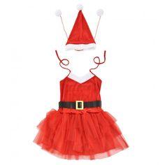 Vianočný kostým - 64 x 50 cm (veľkosť 36-42), Mikulášsky kostým s čiapkou - bielo-červený.  Trojdielny dámsky kostým sa skladá z jedných červených šiat na ramienka, čiapky s brmbolcami a čierneho opasku. Svoje uplatnenie si nájde nie len na Vianoce, ale aj na fašiangoch, pri karnevaloch, či na iných zábavách. Tento kostým určite zanechá nezabudnuteľný dojem. Rockabilly Dress, Outfit, Summer, Inspiration, Shopping, Material, Style, Ideas, Design