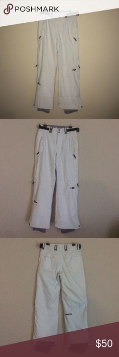 Bonfire Snowboarding Pants Bonfire snowboarding pants for women in an off white color Bonfire Pants