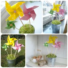 sew and the city: Easter Fabric Pinwheels