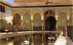 """Edwin Weeks. """"La corte de la Alhambra en tiempo de los moros"""". 1873 Las aventuras viajeras de Edwin Lord Weeks (1849 – 1903) http://eldibujante.com/?p=9380  PINTURA Y PAGNA. DIVINA."""