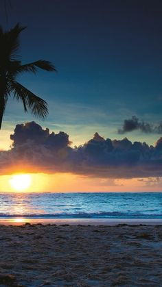 República dominicana, 4k, playa, verano, mar, puesta del sol