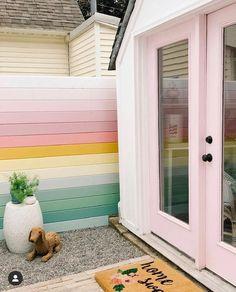 Home Design, Design Blogs, Modern Design, Interior Pastel, Pastel Home Decor, Exterior Design, Interior And Exterior, Decoration Inspiration, Garden Painting