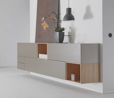 Cubo highly flexible wall hanging cabinets