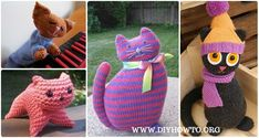 Amigurumi Knit Cat Toy Softies Free Patterns: Cat Plushie Toys Knitting Patterns, Window cats, Parlor Cat, Bean Cat, Cat Puppet and more kids cat toy gifts Knit Slippers Free Pattern, Baby Booties Knitting Pattern, Crochet Baby Booties, Crochet Blanket Patterns, Knitting Patterns Free, Free Knitting, Baby Knitting, Knitting Ideas, Knit Crochet