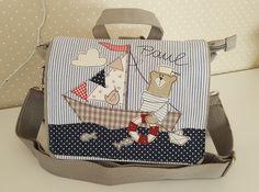 Kindergartentaschen - Kindergartenrucksack/ Kindergartentasche Bär - ein Designerstück von Feinerlei bei DaWanda