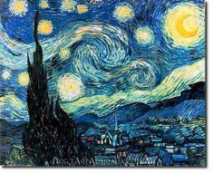 Vincent Van Gogh | Starry Night - Direct Art Australia,  Price: $199.00,  Availability: Delivery 10 - 14 days,  Shipping: Free Shipping,  Minimum Size: 50 x 60 cm,  Maximum Size : 100 x 150 cm,  100% Hand Painted Oil Paintings on Canvas!  View the artwork before it is sent!  www.directartaustralia.com.au/