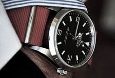 Another good looking Rolex... the fabric band makes a great contrast...