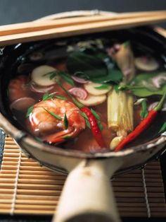 Recette Soupe de crevettes et nouilles chinoises, notre recette Soupe de crevettes et nouilles chinoises - aufeminin.com