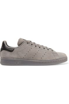 meet 1b8ad a9e03 adidas Originals - Stan Smith leather-trimmed suede sneakers