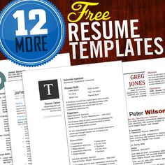 12 more free resume templates to help you get ahead in your job search - Free Unique Resume Templates