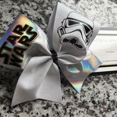 Star Wars Storm Trooper cheer bow by BowChikbyJennyShaw on Etsy
