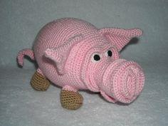 Charming pig pepe.Amigurumi crochet pig Crochet by innakozachuk, $50.00