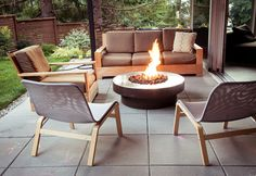 luna fire pits bring warmth to your patio