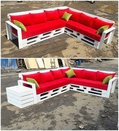 This is quite a stylish wood pallet sofa set up whose framing has been all done with the wood pallet artwork designing. Although the sofa set frame is being constructed in giant structural, you can eventually reduce its size shape as well. See this image! Diy Pallet Sofa, Pallet Patio Furniture, Wooden Pallet Projects, Reclaimed Wood Furniture, Wooden Pallets, Diy Furniture, Outdoor Furniture Sets, Rustic Furniture, Antique Furniture