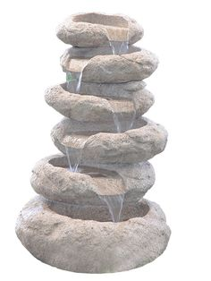 6 Tier Sandstone Boulder by Aqua Creations - PWFK3873 - is a natural sandstone looking water feature to grace any garden or patio.