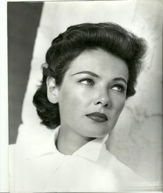 Her face is too perfect. GeneTierney