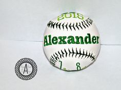 Customized Baseball Embroidered birth by ApesCustomPhotoProps