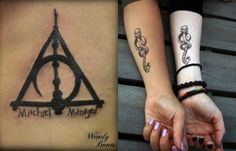 Tattoo Harry Potter,  that deathly hallows symbol though!