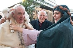 Yep, That's Pope Francis With a Baby Lamb on His Shoulders