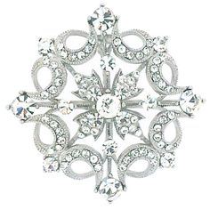 Swarovski Crystal Victorian Flower Brooch Pendant http://www.broochesstore.com/modules/shop/view.asp?Prodcode=BR1155