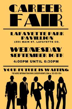 vintage career fair flyer design template click to customize