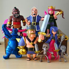 Hot COC 8pcs/set 5inches Clash of Clans action figure toys Witches King Pekka Archer Queen figures Action toys for kids gifts