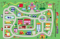 town rugs for kids - Google Search