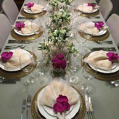 Mesa decorada Elegant Table, Mom Birthday, Decoration, Lima, Towels, Buffet, Napkins, Table Settings, Valentines