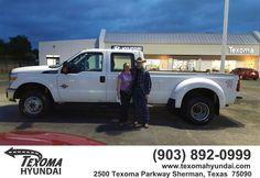 https://flic.kr/p/Ger28e | Congratulations Matt on your #Ford #Super Duty F-350 DRW from Dustin Kile at Texoma Hyundai! | deliverymaxx.com/DealerReviews.aspx?DealerCode=L967