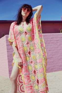 Billowing Beach Caftan