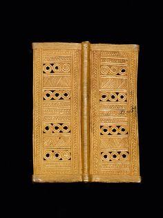 BAULE ANHÄNGER Elfenbeinküste. H 7,5 cm, B 5,5 cm. Goldlegierung ca. 8,5 Karat. READ note