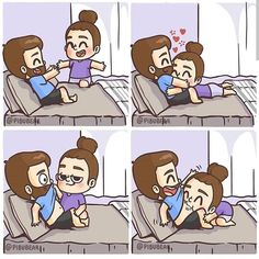 Love Cartoon Couple, Cute Couple Comics, Couples Comics, Comics Love, Cute Couple Art, Cute Cartoon Images, Cute Love Pictures, Cute Love Cartoons, Love Is Comic