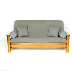 Cover your full-size futon stylishly with this comfortable cotton futon cover. This slip-resistant cover features a concealed zipper and is tailored to look great on your futon sofa.