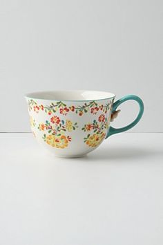 Wanting this Anthropologie tea cup to begin my collection for my wall!