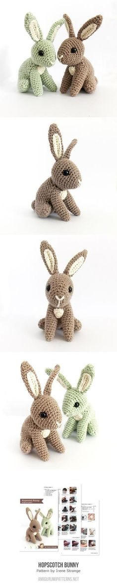 Hopscotch Bunny Found at Amigurumipatterns.net