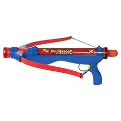 Crossbow- Classic- Red & Blue by Marshmallow Fun Co. $20.99. Outdoor- indoor play. Dishwasher safe. Fun for all ages. Shoots Large marshmallows 30'. Year around fun for all seasons. From the Manufacturer                Crossbow- Classic- Red & Blue                                    Product Description                If you prefer to get medieval with your marshmallow launching, we have just the weapon for you. Launch a taste offensive with the Marshmallow Crossbow...