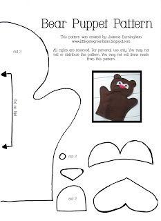 Little Gene Green Bean: Bear Puppet Pattern