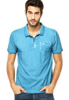 Camisa Polo Cavalera Style Azul a8bf1dfab96cc