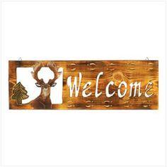 Rustic Buck Welcome Sign