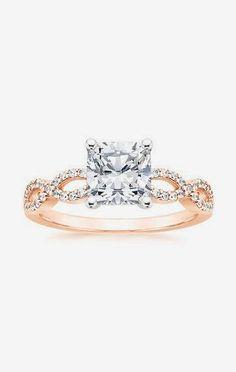 Infinity Diamond Ring Rose Gold