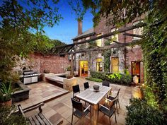 Cool, edgy warehouse, classic, at times traditional interior and a walled courtyard that belies the fact that the hustle and bustle of the city is just beyond