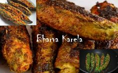 Bharwan Karela Recipe - Stuffed bitter gourd Recipe - Stuffed Masala Karela - I Cook Different Cooking Recipes For Dinner, Snack Recipes, Bitter Melon, Indian Food Recipes, Ethnic Recipes, Recipe Mix, Easy Diets, Weight Loss Snacks, No Carb Diets