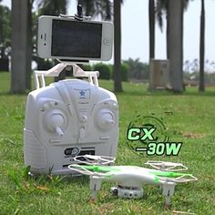 Cheerson CX-30W Drone Helicopter with WIFI HD Camera and FPV Real-time Transmission Drone LED Light