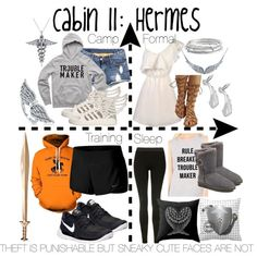 Cabin 11: Hermes by aquatic-angel on Polyvore featuring NIKE, Topshop, adidas, UGG, BERRICLE, Kate Spade, Sterling Essentials and Allurez